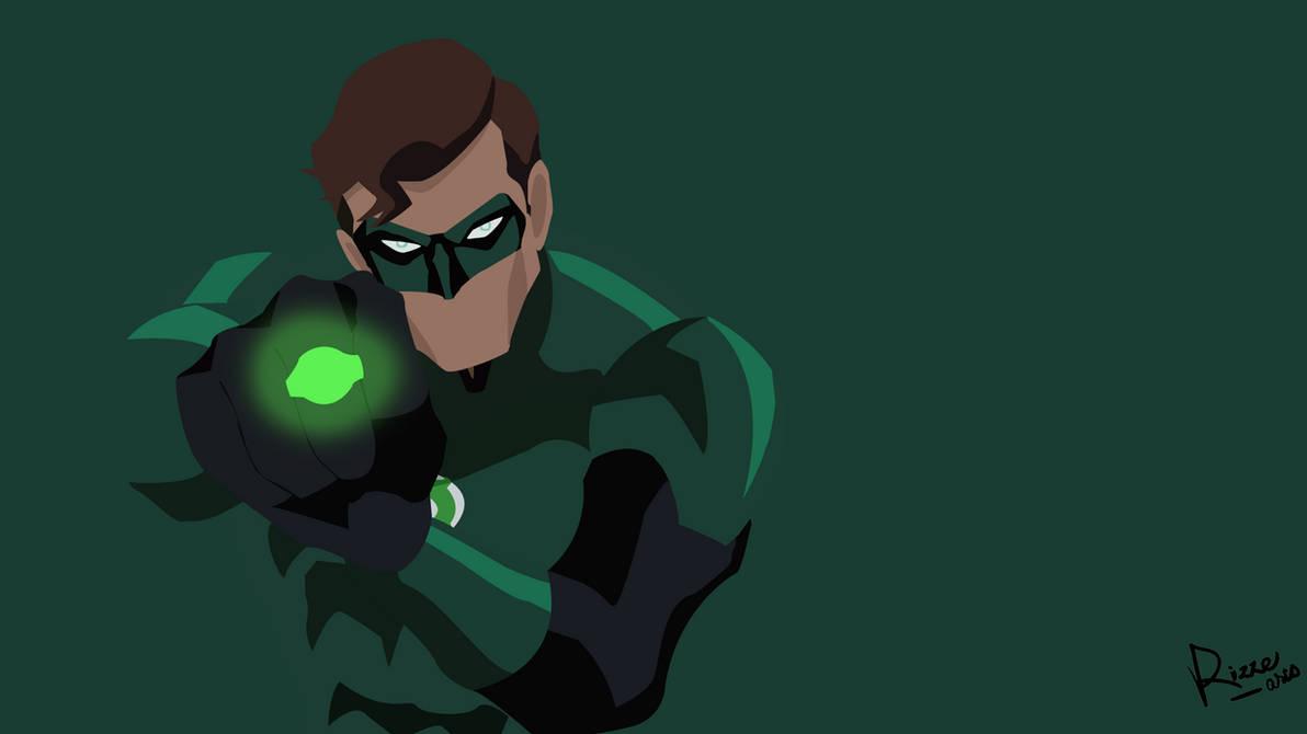 Green-Lantern Wallpaper Flat Design finished by RizZeArtZ ...