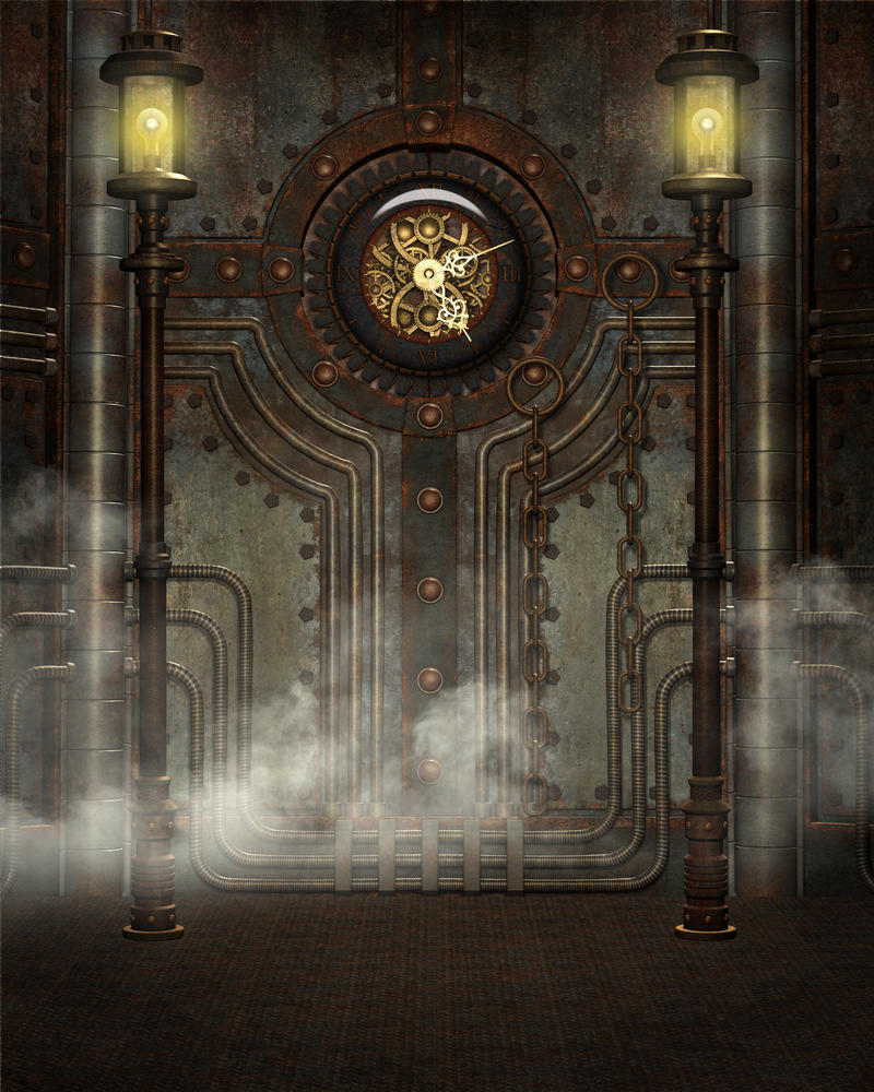 Steampunk background 8 by Kachinadoll