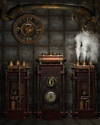 Steampunk Background 4 by Kachinadoll