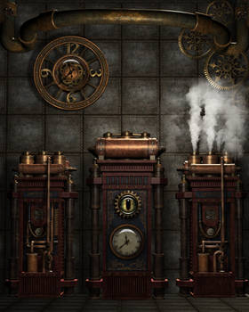 Steampunk Background 4
