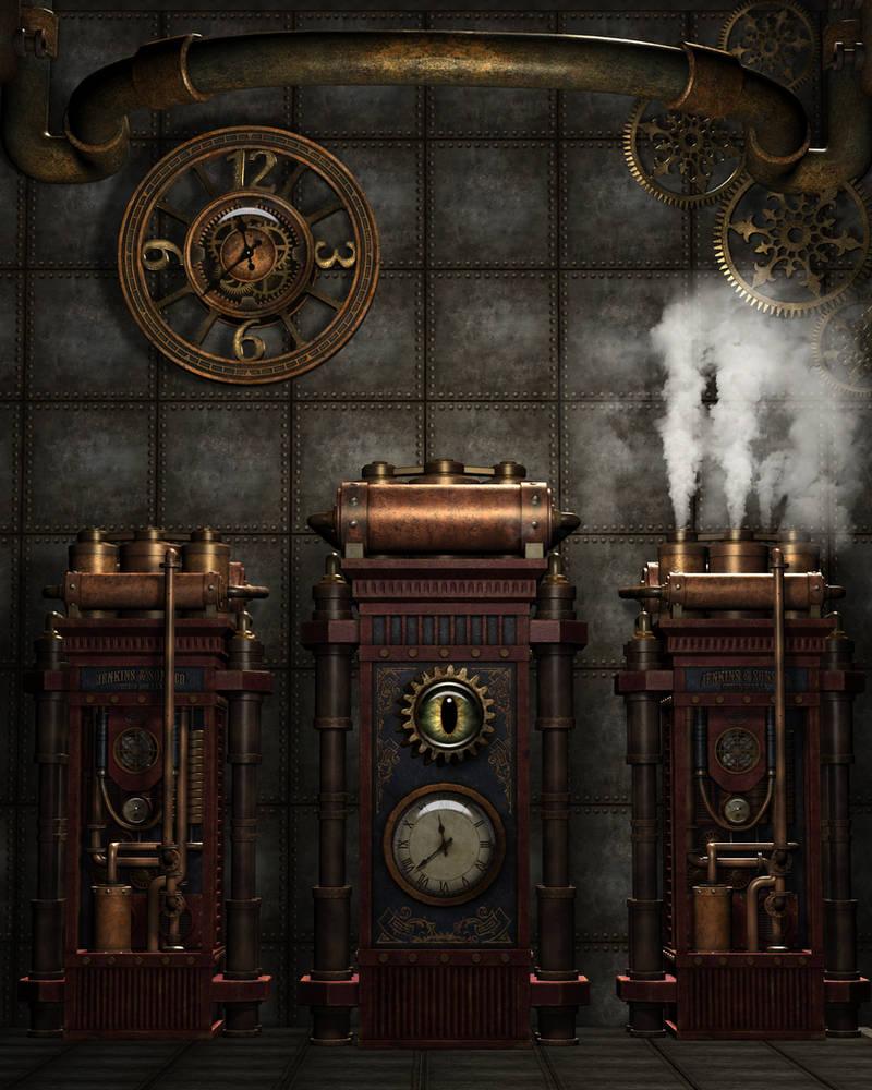Steampunk Background 4