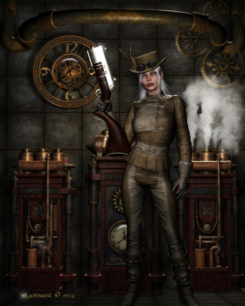 Steampunk Rebel by Kachinadoll