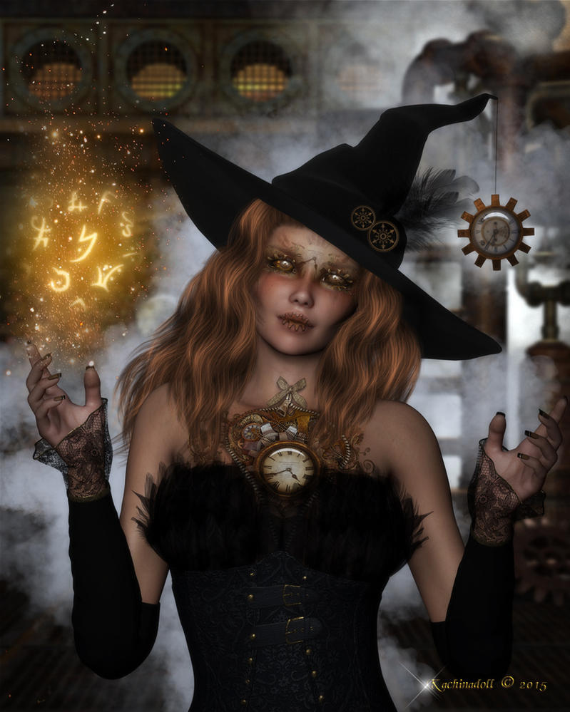 Steampunk Witch by Kachinadoll