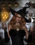 Steampunk Witch by Kachinadoll