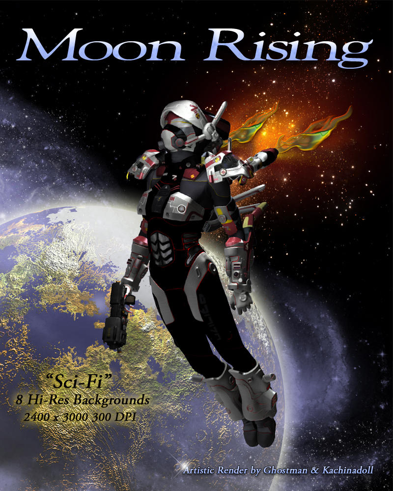 Moon Rising - Sci-Fi Backgrounds
