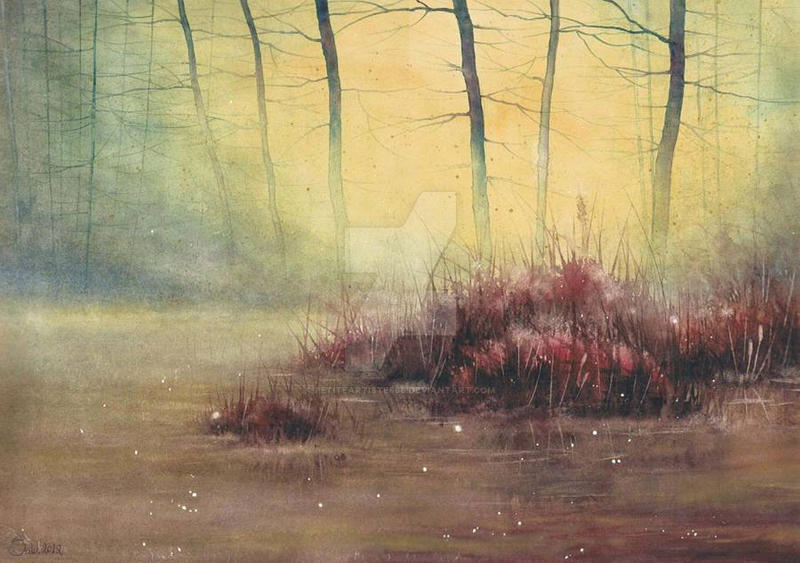Jesienna cisza - Autumn silence by petiteartiste666