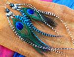 Zebra Feather Earrings