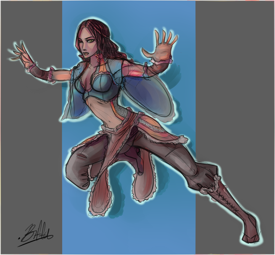Mia Concept 1 by VexyFate