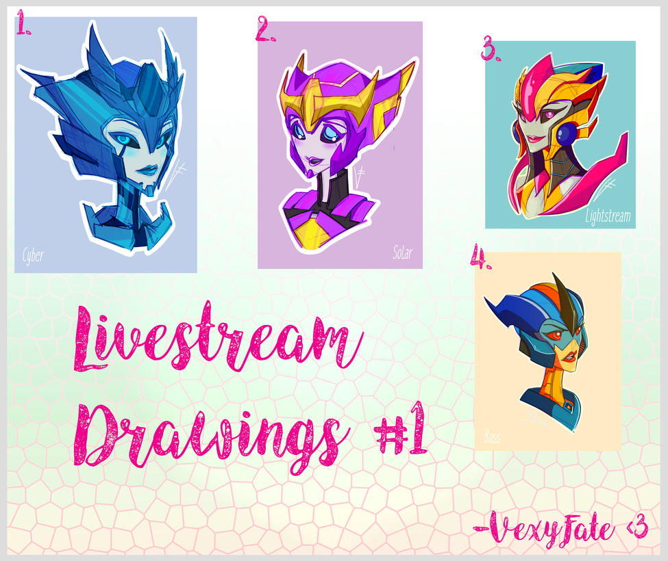 Livestream Drawings 1 by VexyFate