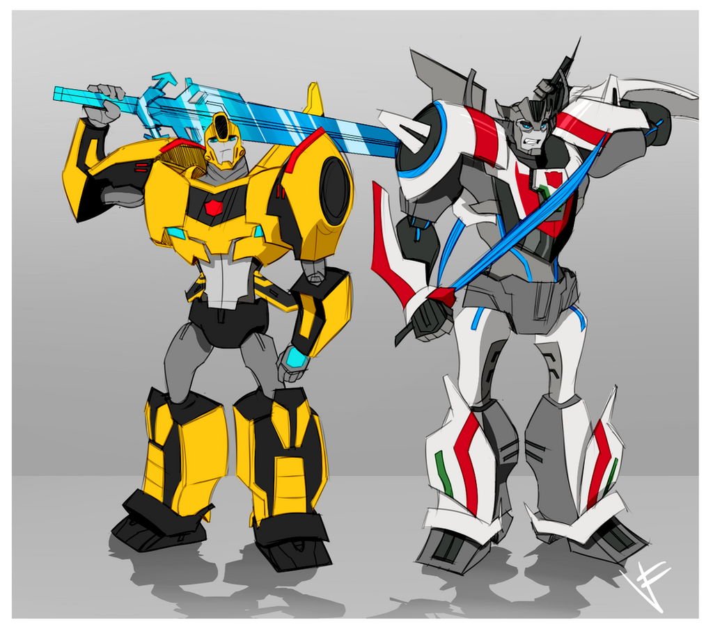 2015 Wheeljack and Bumbblebee READY TO FIGHT by VexyFate