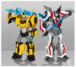 2015 Wheeljack and Bumbblebee READY TO FIGHT