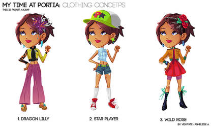 My Time in Portia Outfit Concepts by VexyFate
