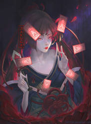 Flower of Death: Shikigami Higanbana by ZAKUGA