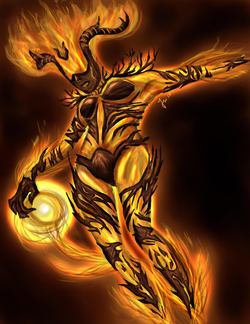 Flame Atronach by Kaizoku501