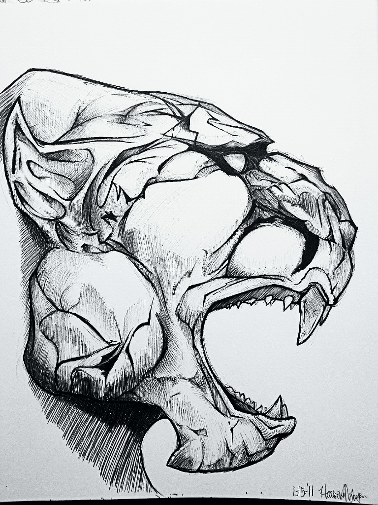 Lions Roaring Drawing Drawing Tumblr Lion Head