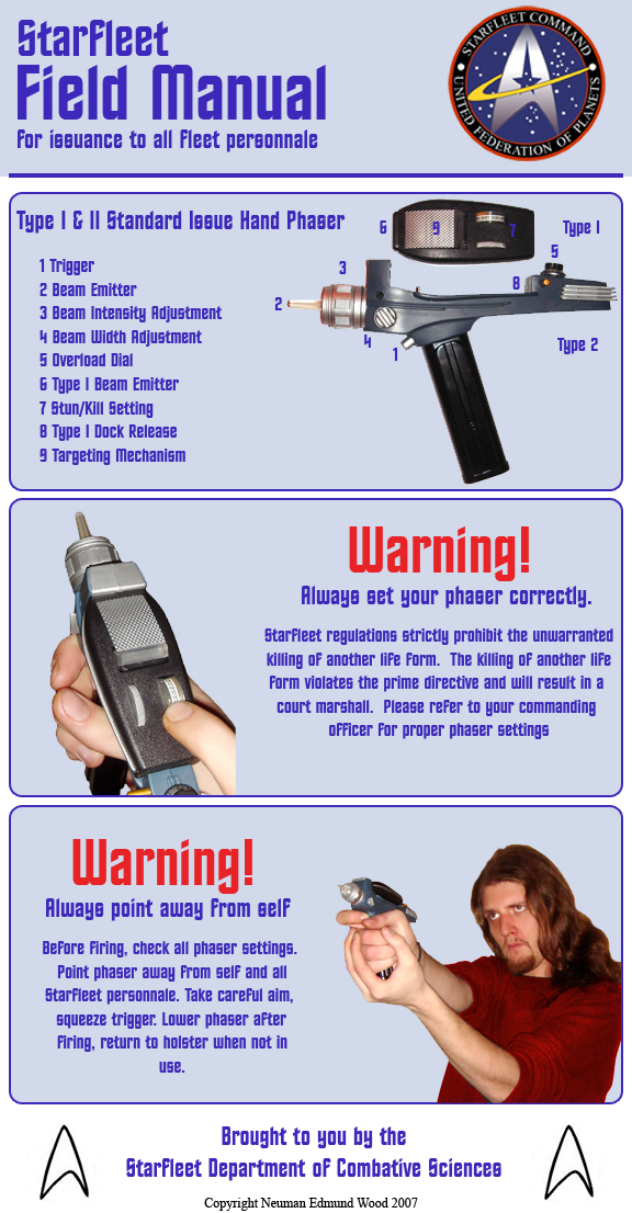 Star Trek Phaser Manual by nemesisenforcer