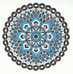 Blue Mandala by Hellsrainstar