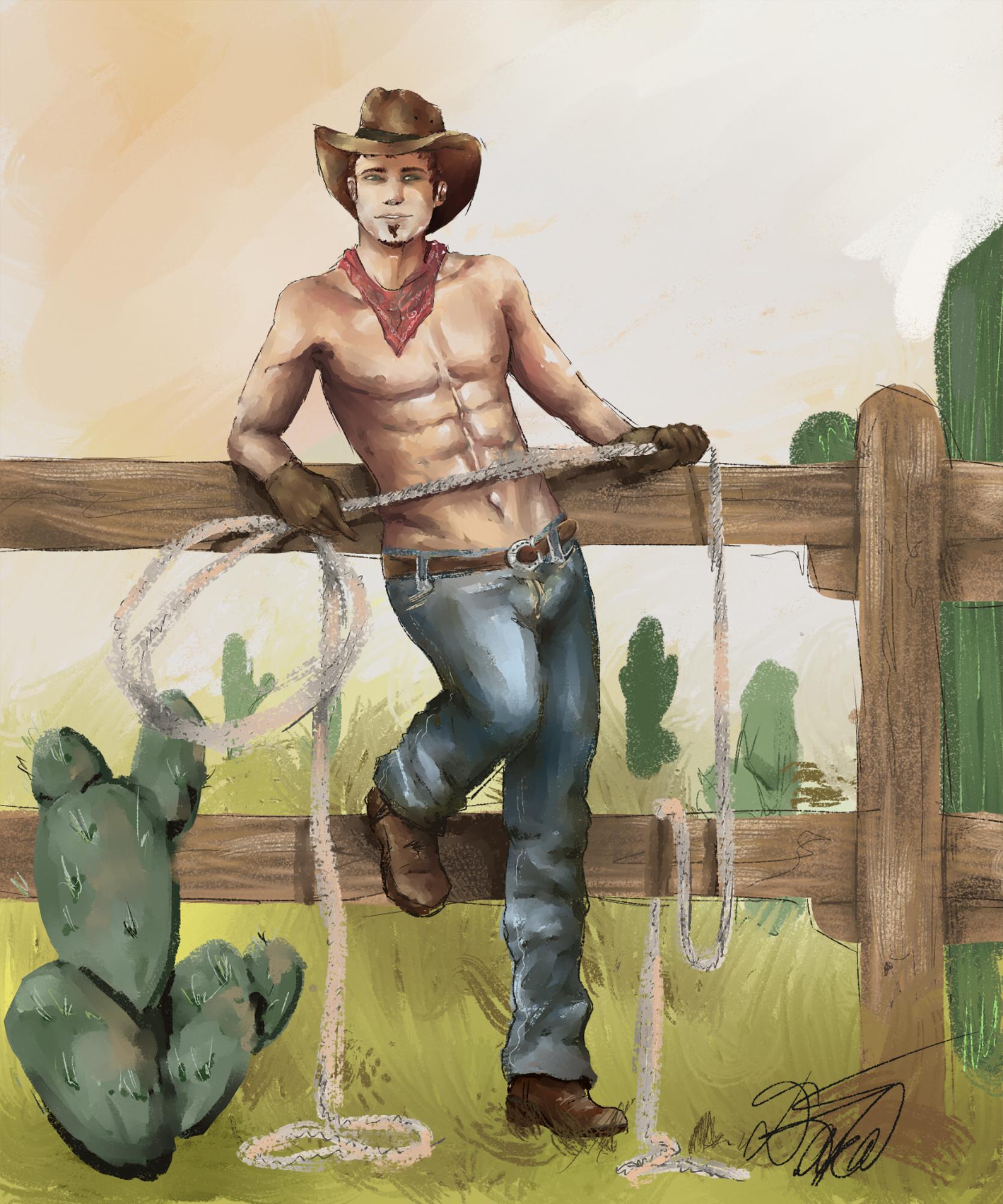 Male Pin up - Hi Cowboy!