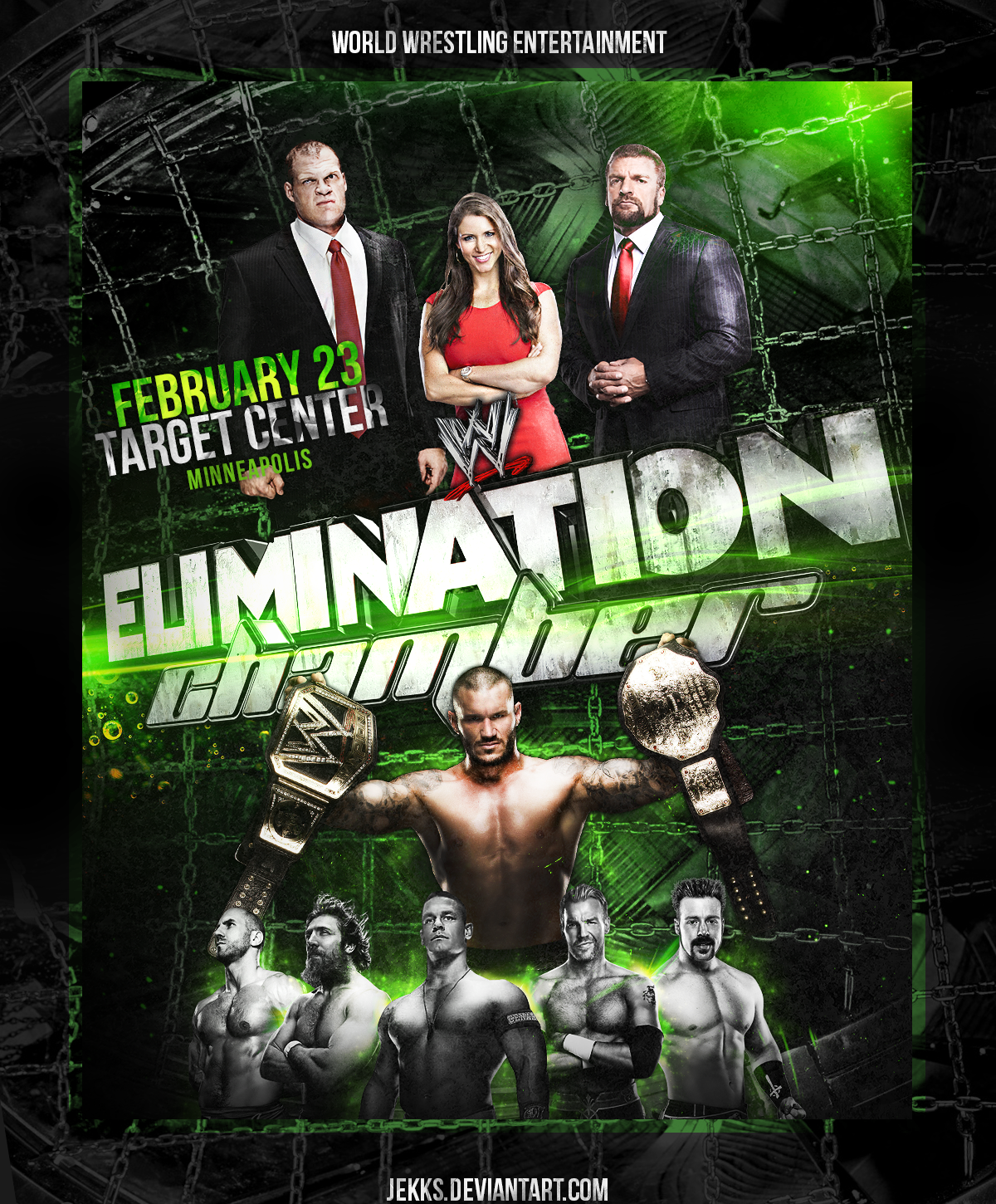 Image result for elimination chamber 2014 poster