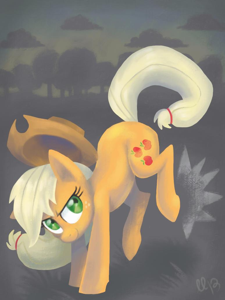 Applejack is bucking awesome by LumosLightning