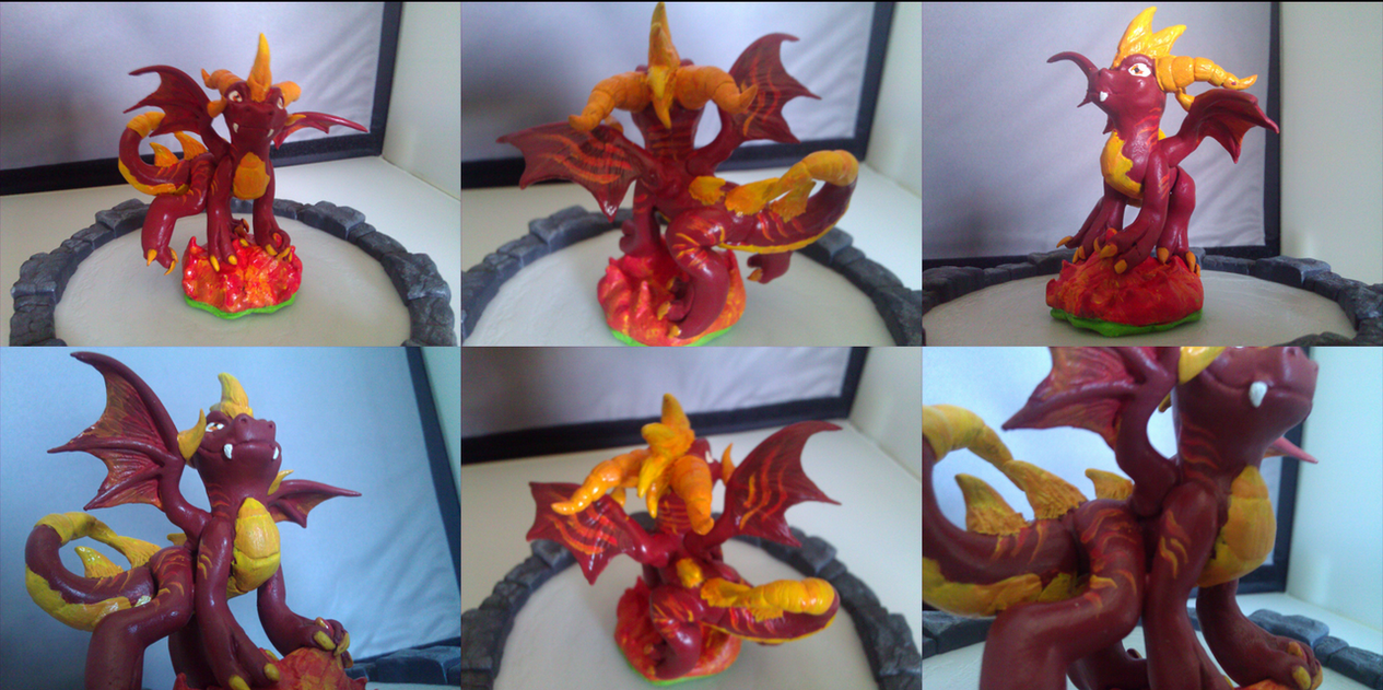 Custom Skylanders Toy:: Flame by Neffertity
