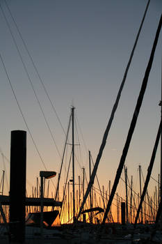 Sunset in a port 1