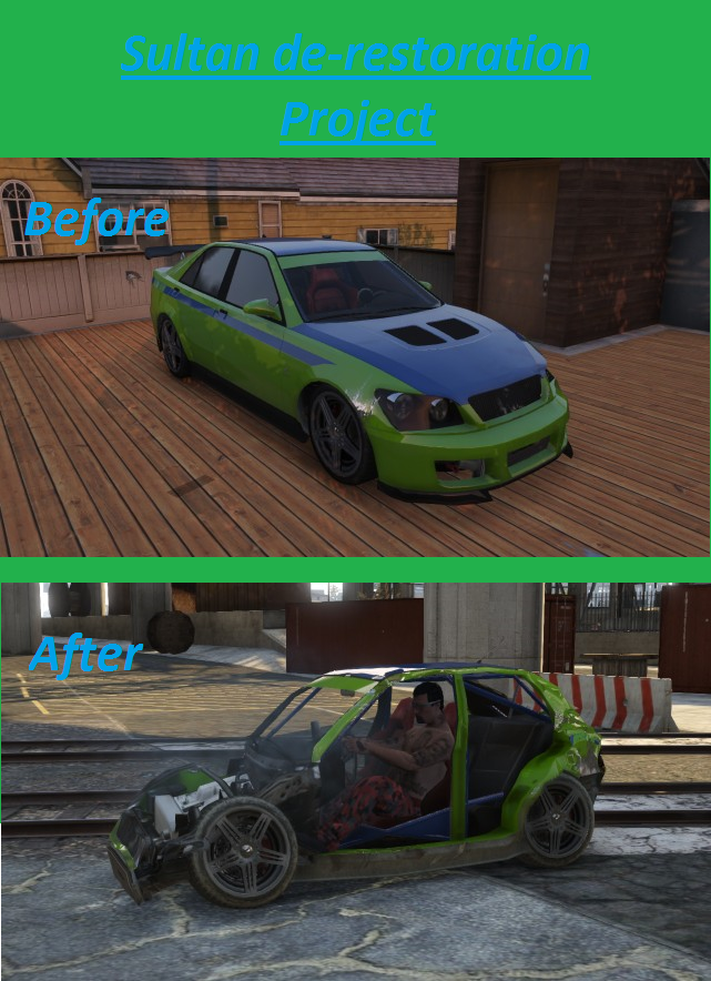 Sultan RS De-Restoration GTA Online by Fluttershy-Lover on ...