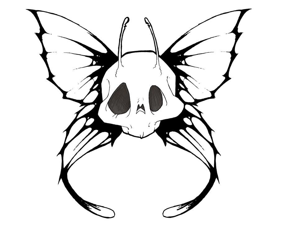 Skull fairy by samhall on deviantart for Skull fairy tattoos