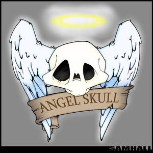 MY skull with feathered wings