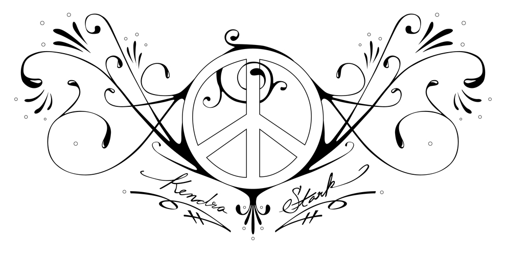 peace and love tattoo by samhall on deviantart. Black Bedroom Furniture Sets. Home Design Ideas