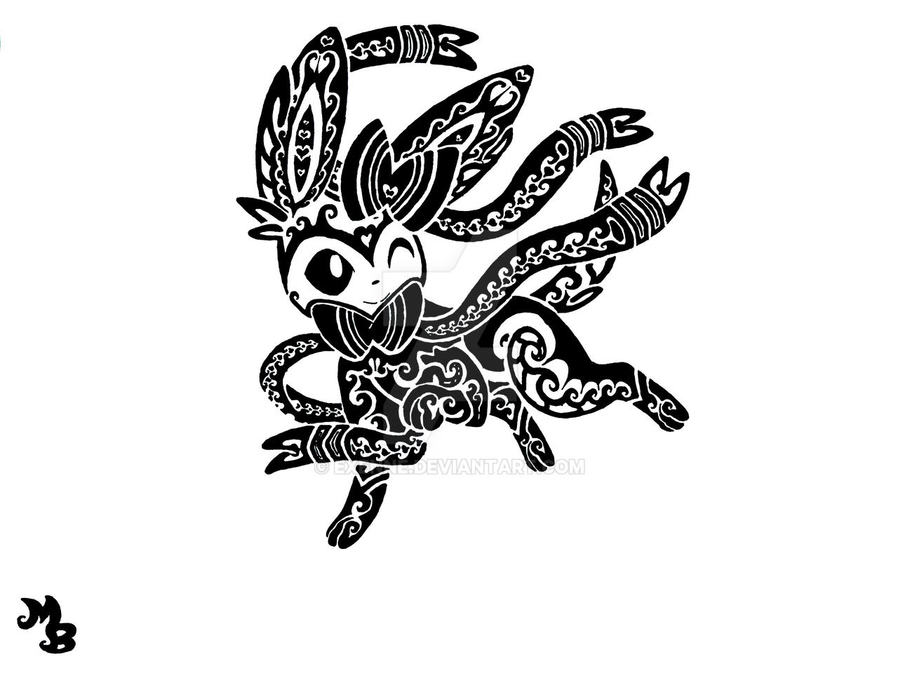 Sylveon tribal Tattoo by Exenne on DeviantArt  Sylveon tribal ...