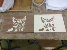 Marquetry Cats