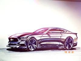 FORD MUSTANG GT Illustration Drawings