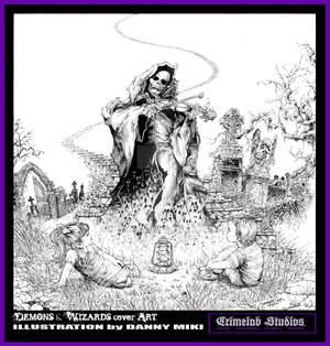 DEMONS and WIZARDS CD cvr ART