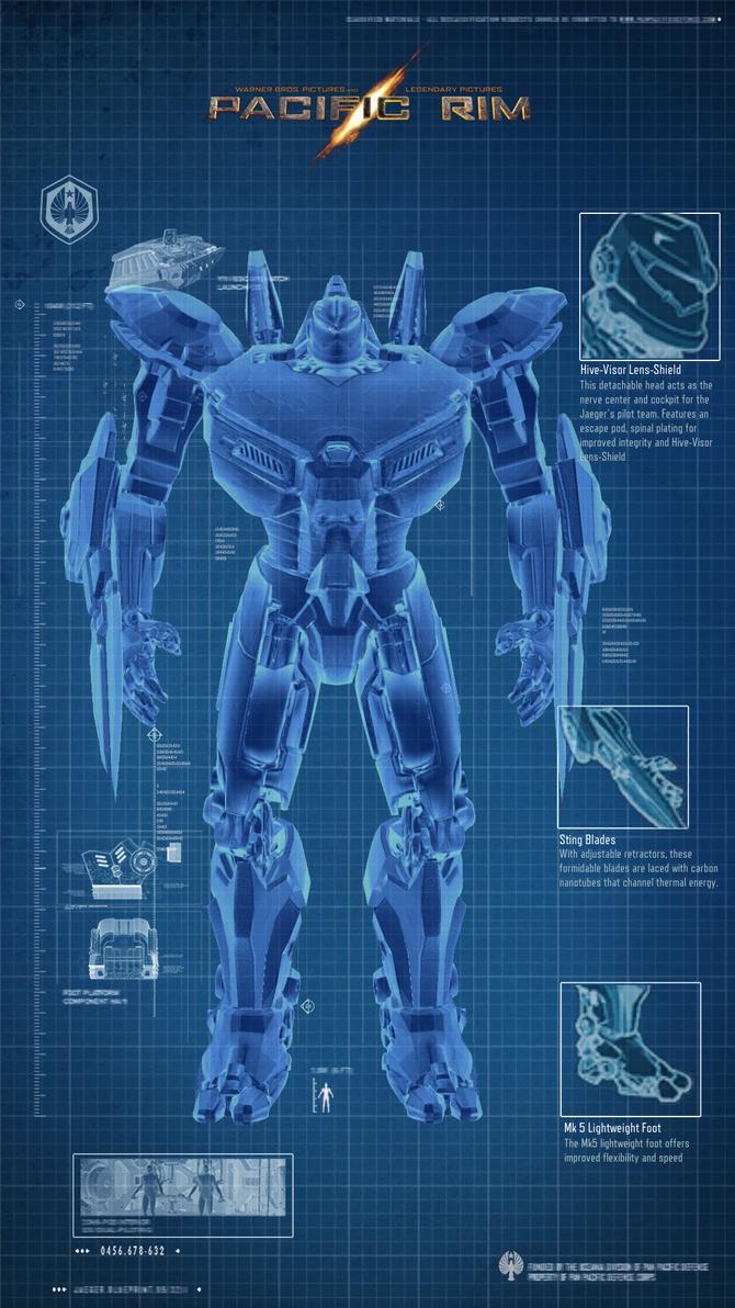 Fan Made Jaeger Blueprint by cwpetesch on DeviantArt Pacific Rim Blueprints