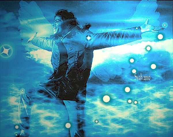MJ Angel in Blue by syah-mj