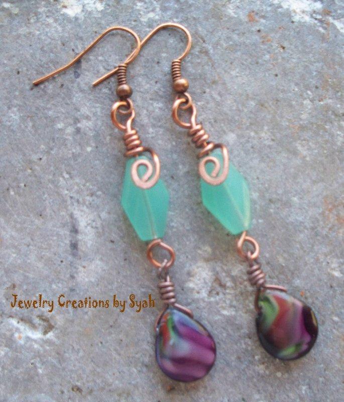 Amethyst Teardrop Earrings by syah-mj