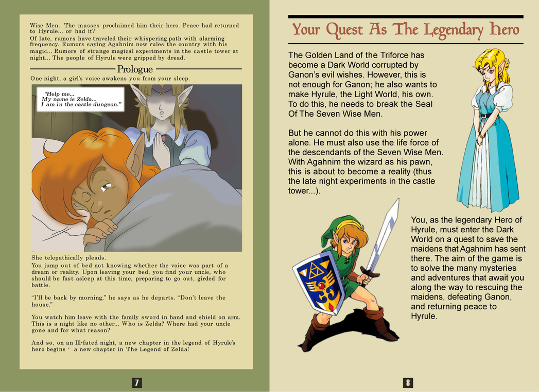 Instruction Book - Zelda A Link to the Past by xoosakix