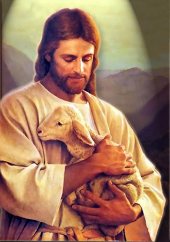 Jesus and the lamb by Dacha-thwei