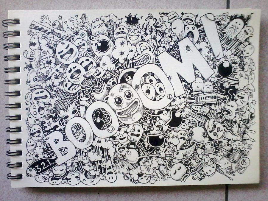 BOOOOM! Doodles by kerbyrosanes