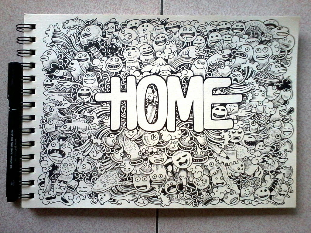 Doodle art home by kerbyrosanes on deviantart for How to buy art for your home