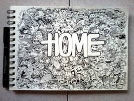 DOODLE ART: HOME by kerbyrosanes