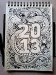 DOODLE ART: Year Of the Water Snake