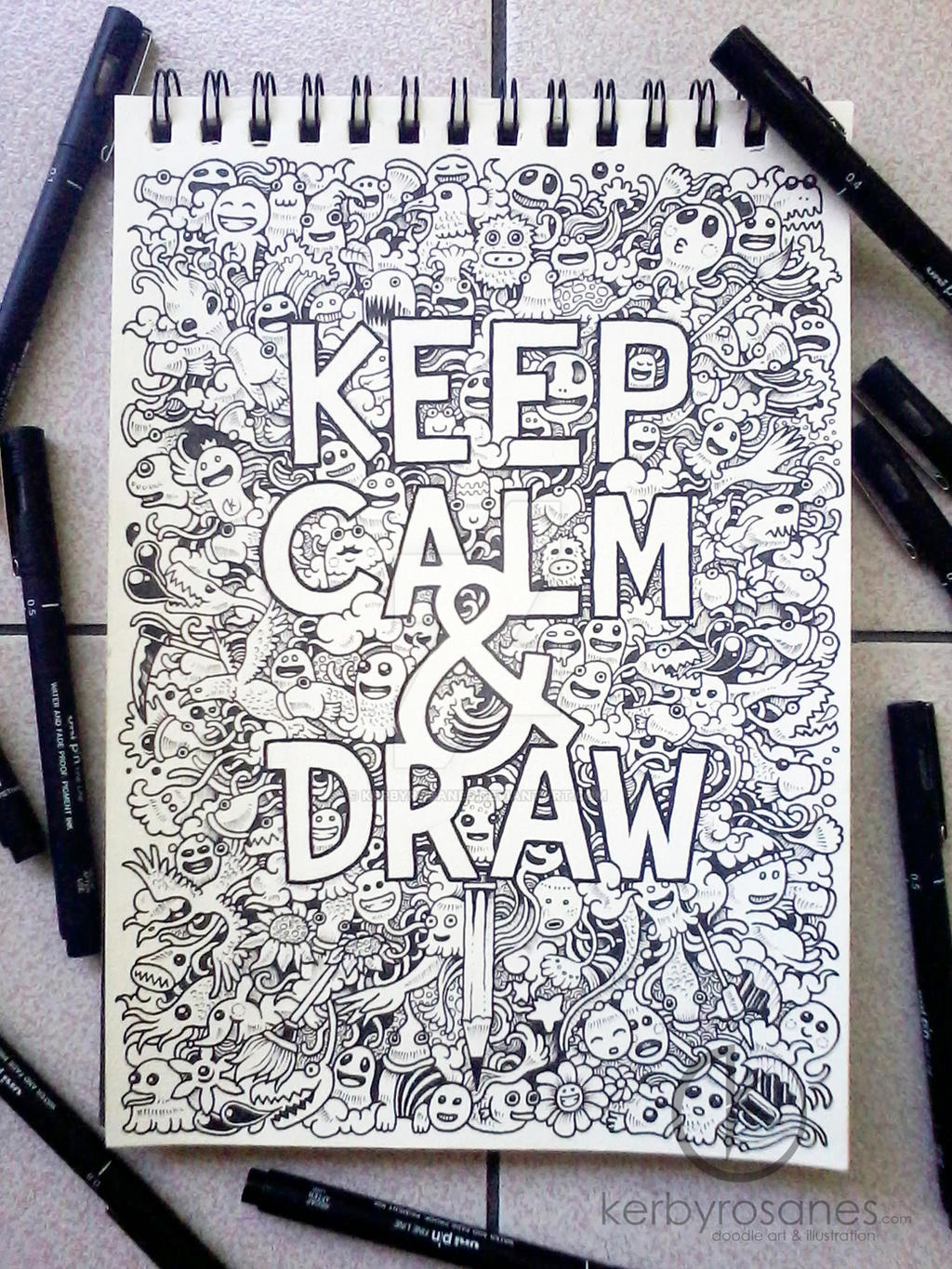 doodle art keep calm and draw by kerbyrosanes on deviantart