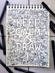 DOODLE ART: Keep Calm And Draw