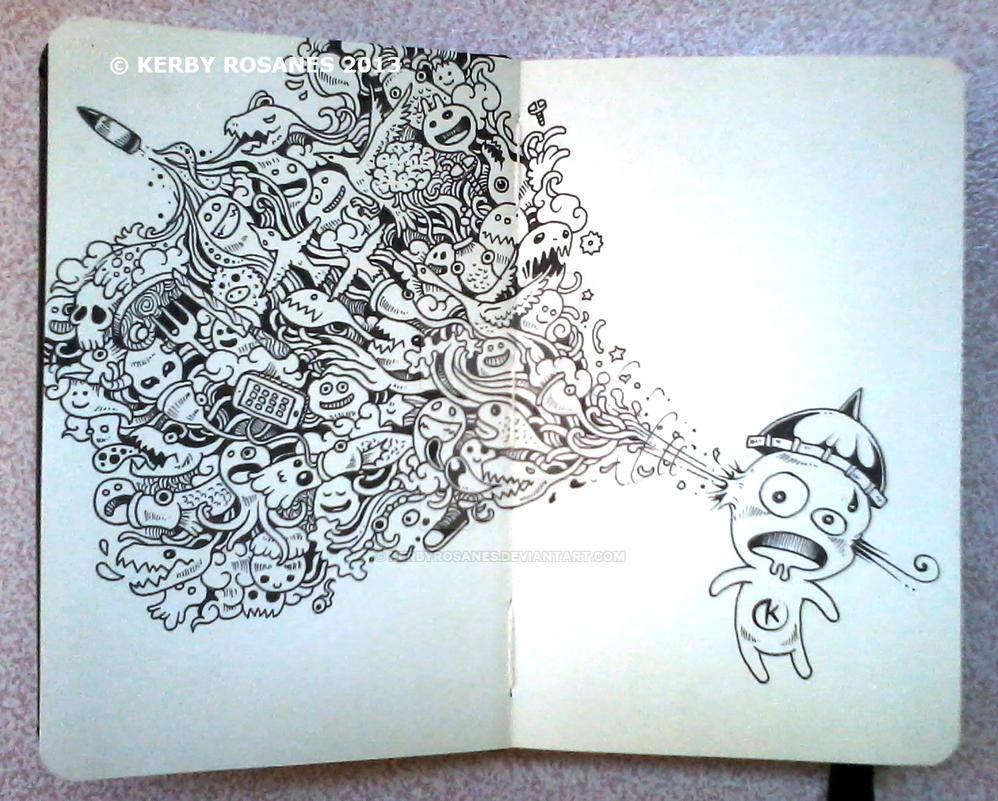 MOLESKINE DOODLES: Creative Suicide by kerbyrosanes
