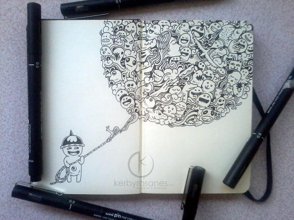 MOLESKINE DOODLES: Doodle Balloon by kerbyrosanes