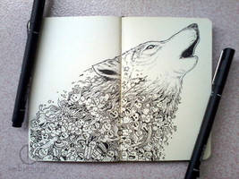 MOLESKINE DOODLES: Wolf Cry