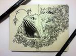 MOLESKINE DOODLES: Angry Angler