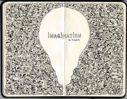 MOLESKINE DOODLES: Imagination is Power
